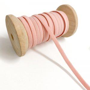 Guma 5 mm pink - rusko -  klobukova guma -  strih na rusko -  navod na rusko -  navod na usitie ruska -  latka na ruska -  guma na ruska -  gumicka na rusko -  bavlnena latka na ruska -  rusko s gumickou -